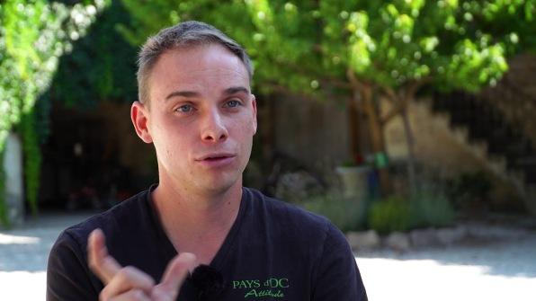 Samuel Masse est président des Jeunes agriculteurs de l'Hérault (photo Vitisphère).
