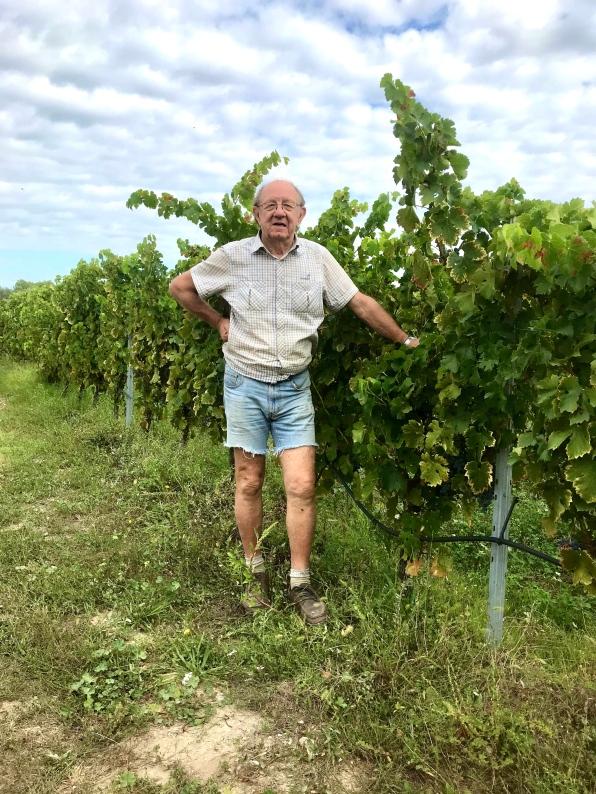 Jean-Marie Rouvière, pourtant retraité, continue d'exploiter ses vignes de Saint-Bauzille-de-Montmel (photo Samuel Masse)